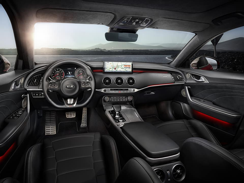 New Kia Stinger GT seats